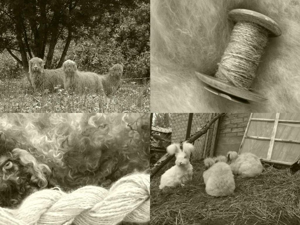 Getter och Kaniner, Handspunna garner